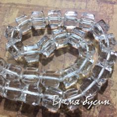 Кубики из граненого стекла крупный 10х10 мм (20 шт.) ПРОЗРАЧНЫЙ