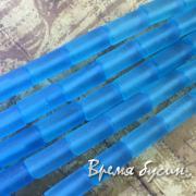 1/2 НИТИ БУСИН Аква-кварц матовый, трубочка гладкая 8х16 мм (12 шт.)