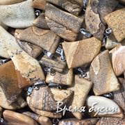 Пара кулонов, коготь из камня, 18х25 мм (2 шт.)