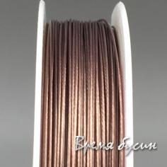 Ювелирный тросик 0,45 мм. ПЕПЕЛЬНО-МЕДНЫЙ