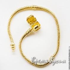 Основа для браслета в стиле пандора под золото, 19 см (1 шт.)